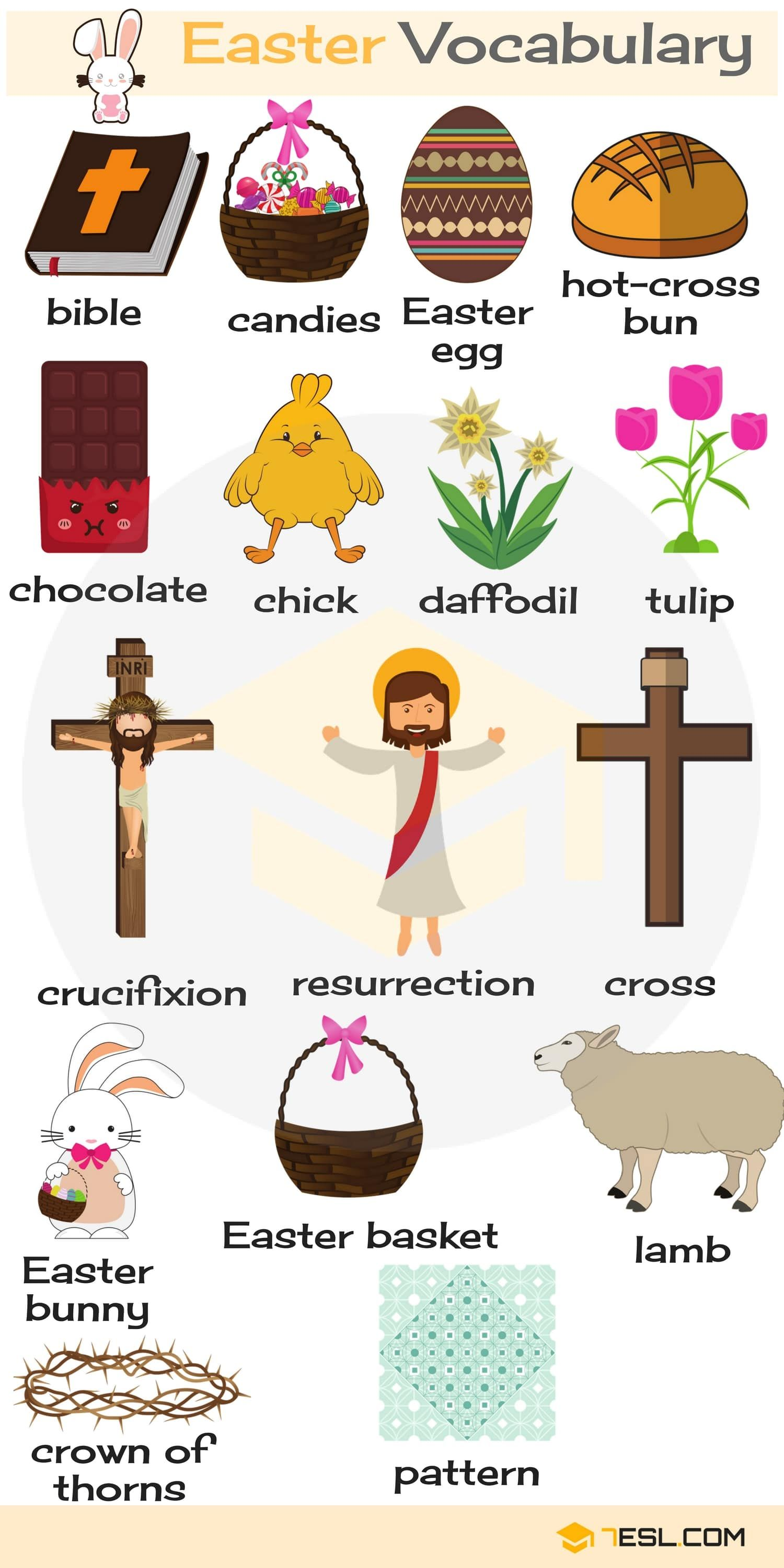 Easter Words Useful Easter Vocabulary Words In English