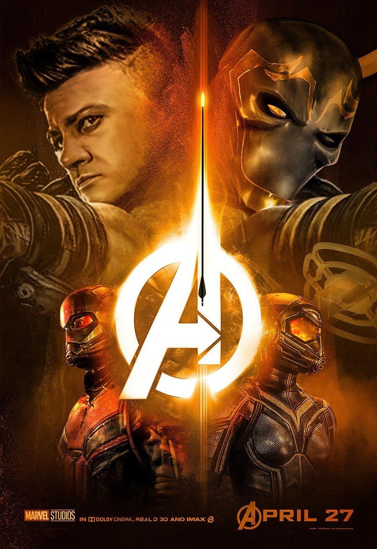 Avengers Infinity War Hawkeye Ronin Antman Wasp Vingadores