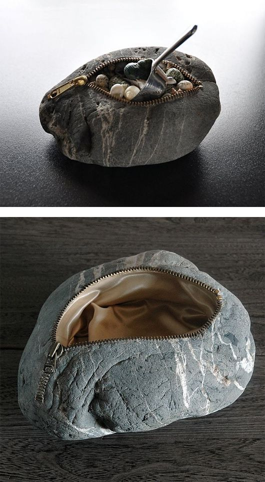 Japanese artist Hirotoshi Itoh creates unique stone sculptures, adding softness, texture and humour to these hard minerals.