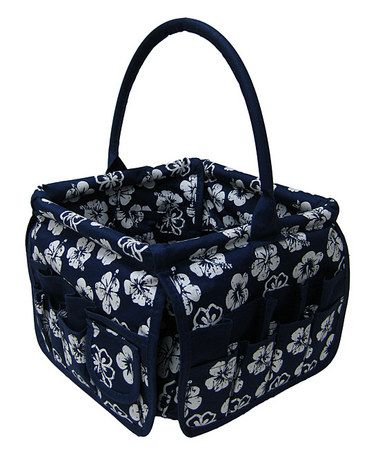 Take a look at this Navy Blue Tropical Square Stuff Bucket by Neatnix on #zulily today!