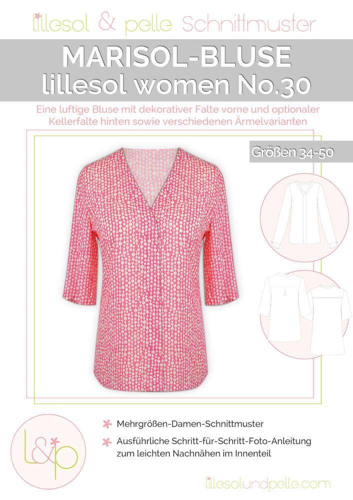 Schnittmuster / Ebook lillesol women No.30 Marisol Bluse / Nähen ...