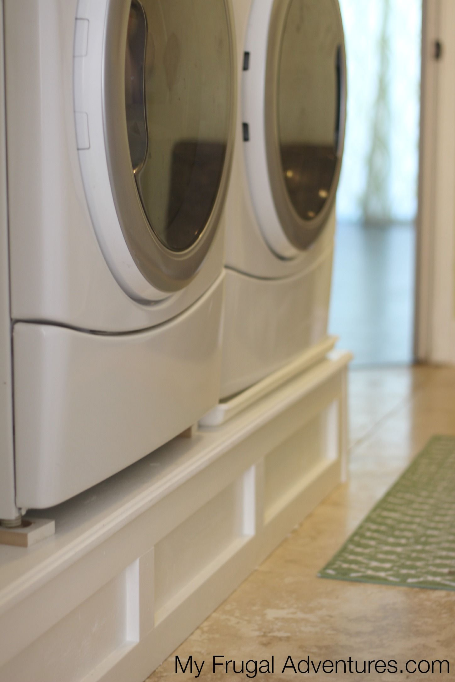 How to build a washer and dryer pedestal laundry room