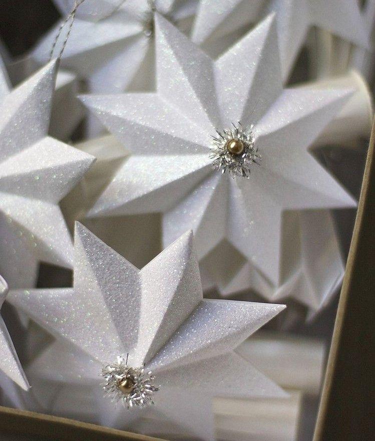 Papier Selber Machen glitzernde anhänger aus papier selber machen рождественский