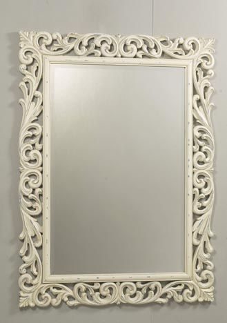 Florence Italian Styled Decorative Mirror Which Comes In A Warm Ivory Cream  Colour From Pinkerton Mirrors