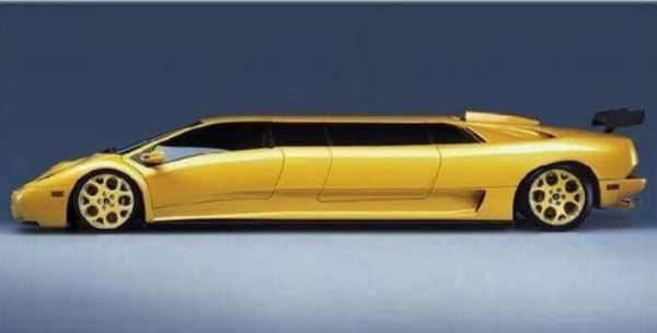 Yellow Audi Q7 Stretch Limo Or Lamborghini Diablo Stretch Limo