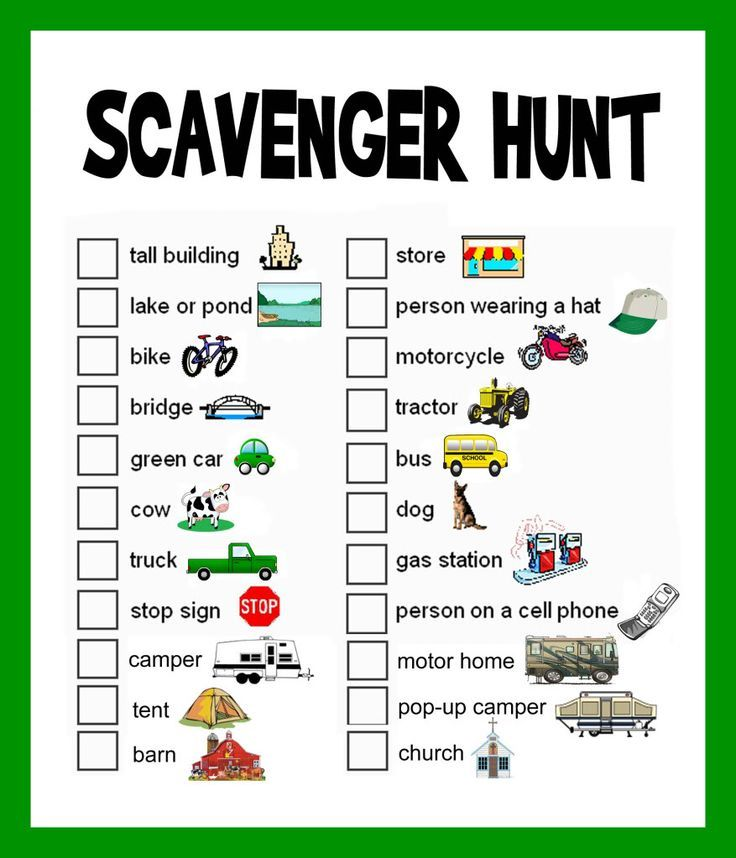 this site has some fun travel games that will be great for vacation but i just used the scavenger hunt game as an indoor acitivity by having the kids find