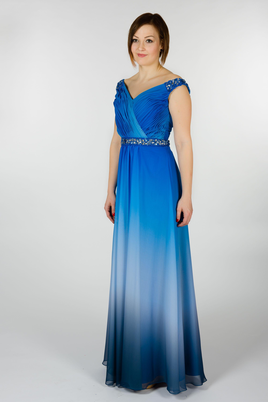 blaue Chiffonkleider mit Farbverlauf von Kleemeier ...
