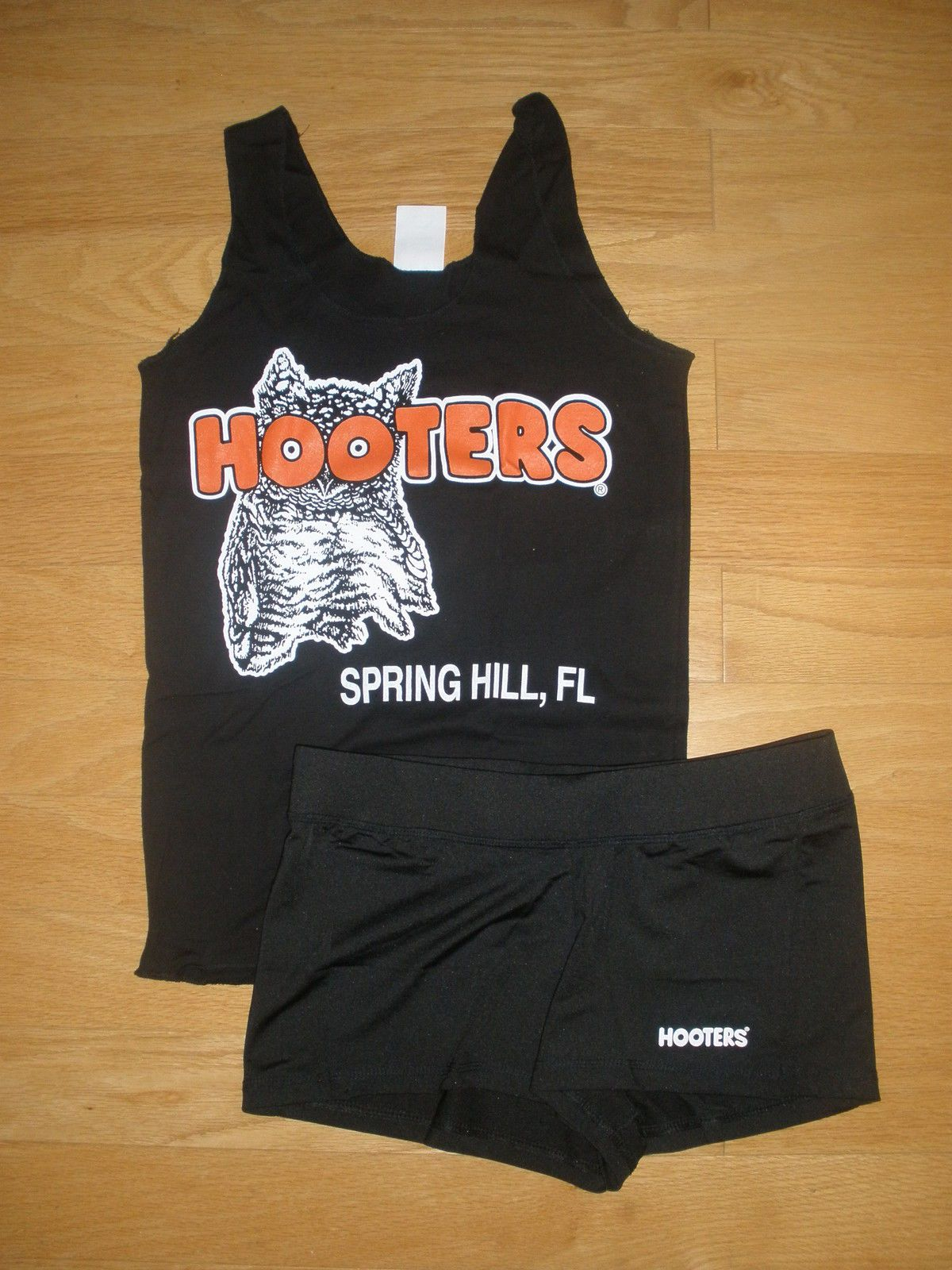 HOOTERS UNIFORM XXS shirt, shorts XS S HALLOWEEN COSTUME SET