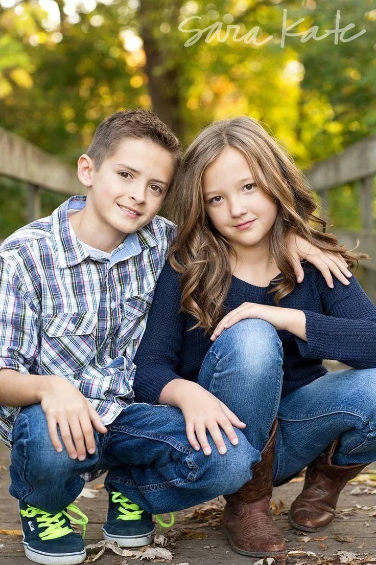 Идея фото брата с сестрой