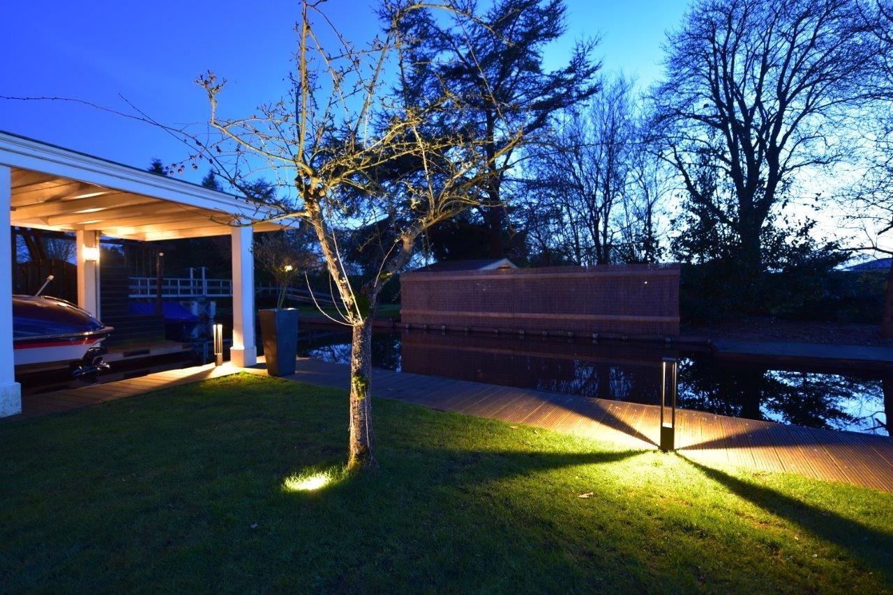 Stijlvolle verlichting laat een tuin tot leven komen maretti