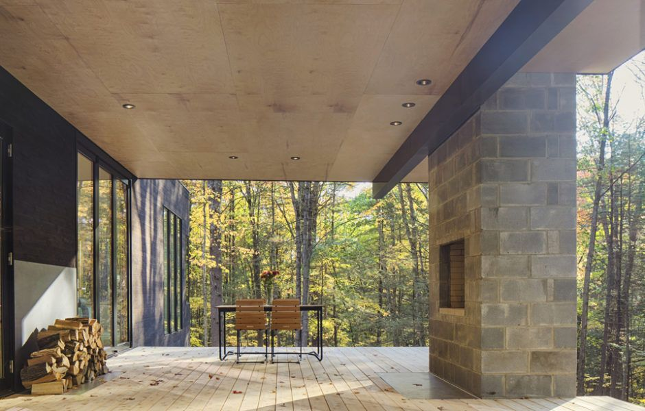 Nestled in the woods of Hudson Valley, this modern home was