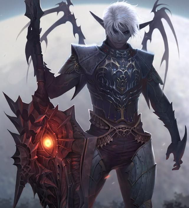 Demon Demon Demon Demon Dark Elf Fantasy Art Art
