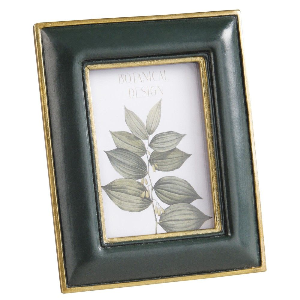 Green And Gold Photo Frame 6 X 8 Cm Maisons Du Monde Gold Photo Frames Frame Green And Gold