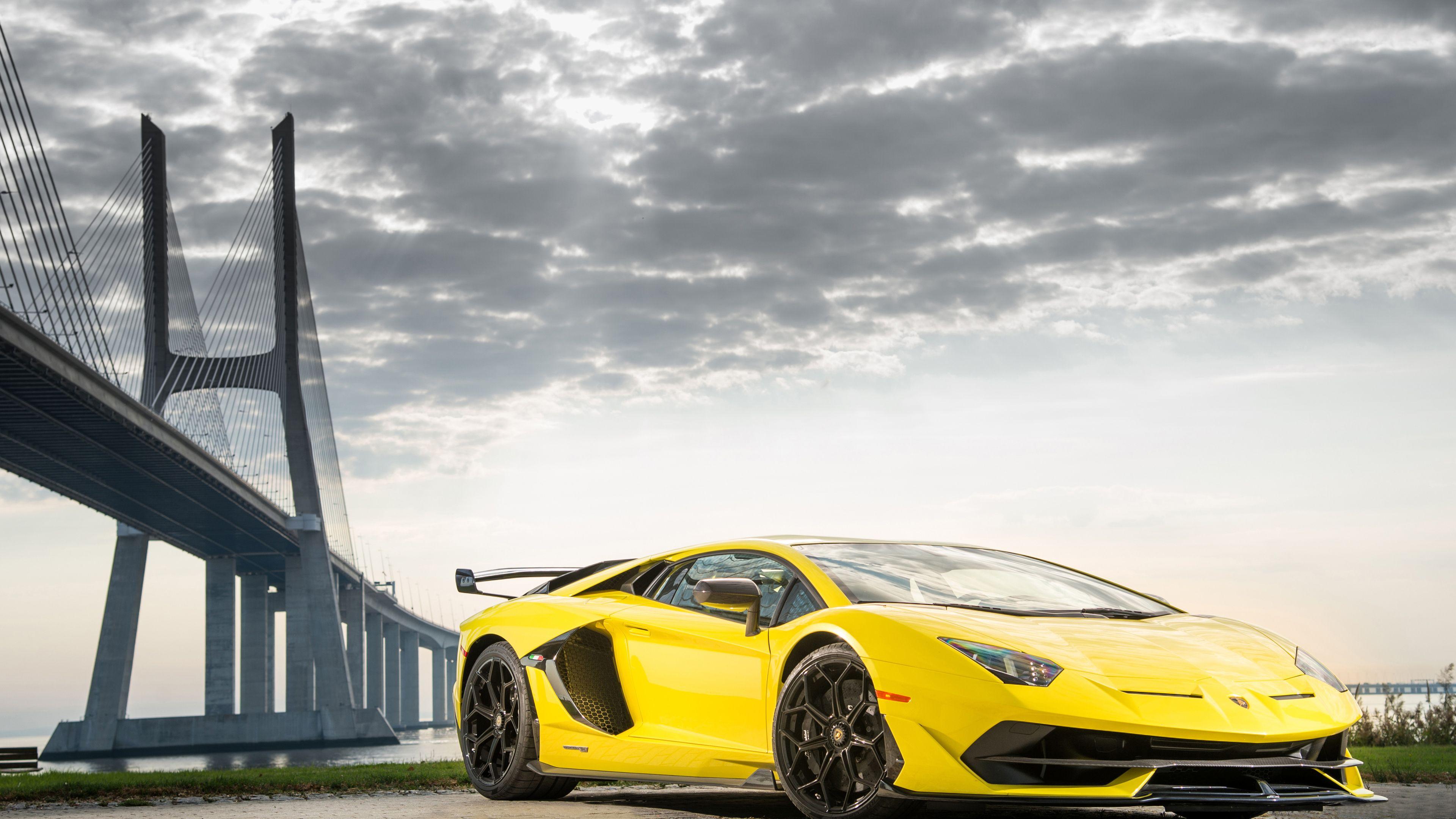 Wallpaper 4k 2019 Lamborghini Aventador Svj Front 2019 Cars