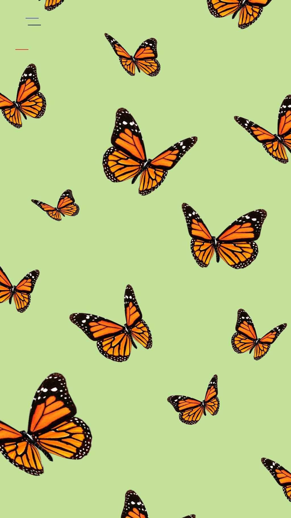 #falliphonewallpaper in 2020 | Butterfly wallpaper iphone ...
