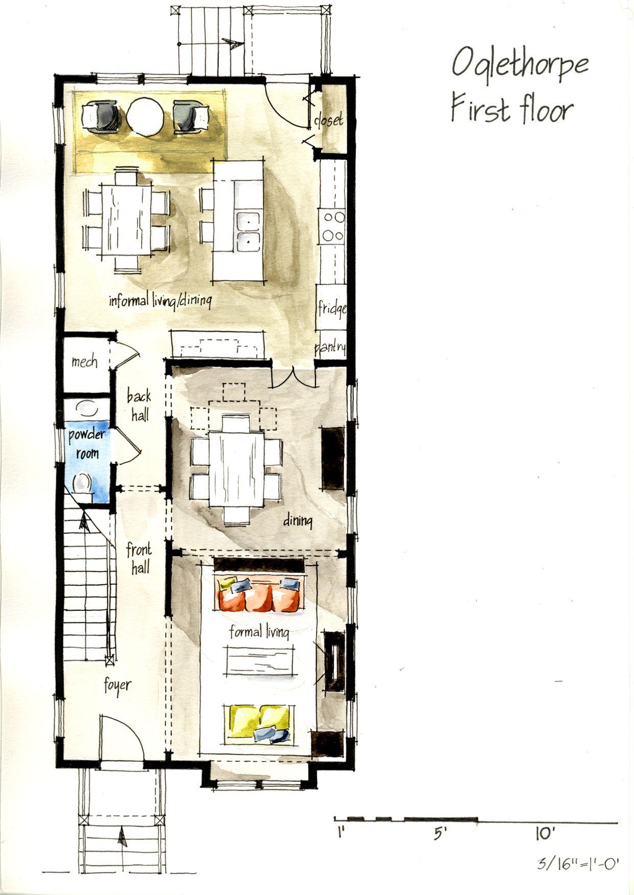 Real Estate Color Floor Plan And Elevation 2 On Behance Ev Plani