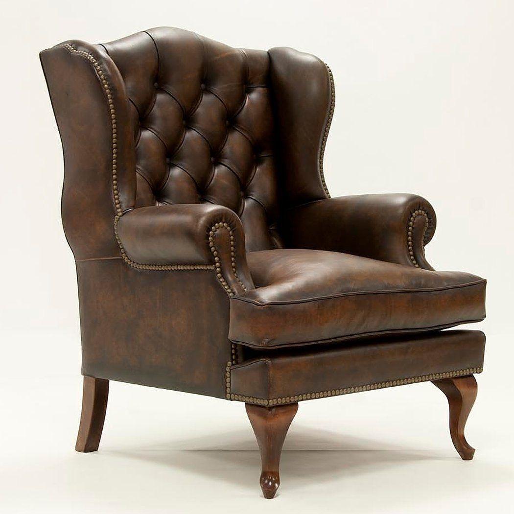 Butaca capitone de piel dover muebles y - Sofa piel vintage ...