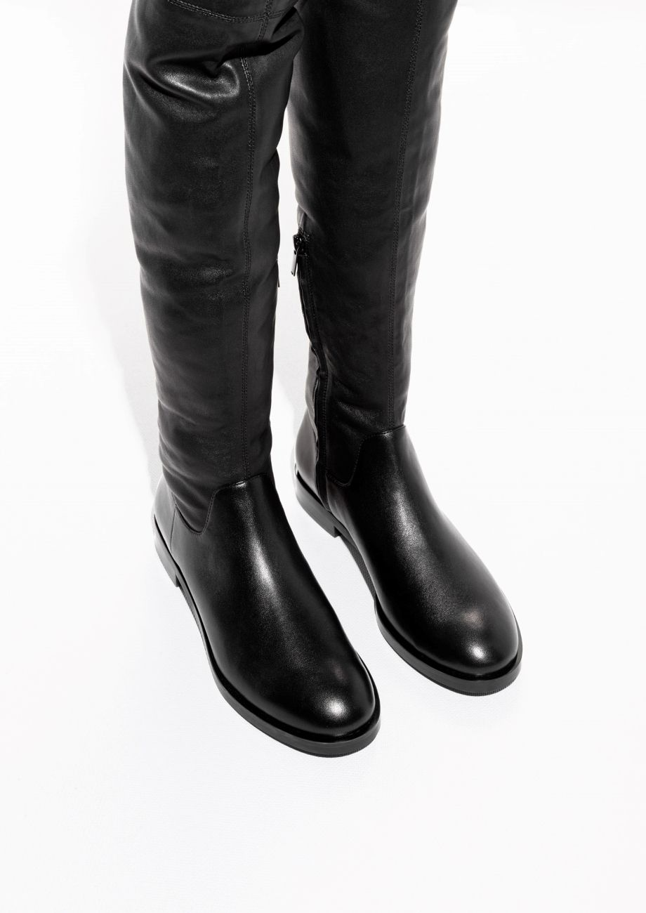e8e4d0f48e7db   Other Stories image 2 of Over The Knee Boots in Black