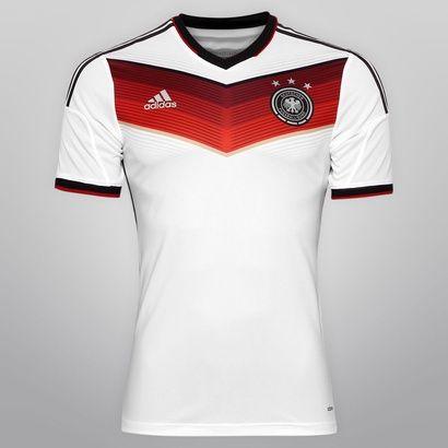 144353cd12 Netshoes - Camisa Adidas Seleção Alemanha Home 2014 s nº - Jogador ...