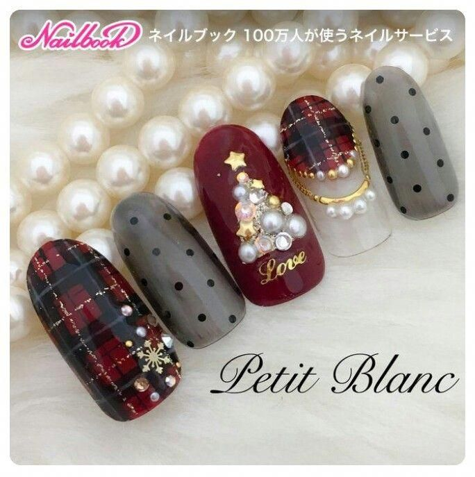Look At These Christmas Nails Design Christmasnailsdesign Holiday Nail Designs In 2019