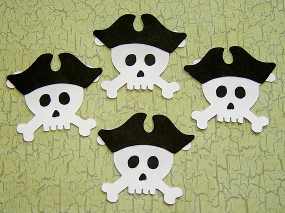 Die Cut Skull with Pirate Hat Cards DIY Scrapbooking by Paperquick, $1.75