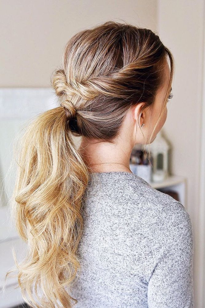 30 Modern Pony Tail Hairstyles Ideas For Wedding Wedding Forward Twist Ponytail Hair Styles Easy Hairstyles