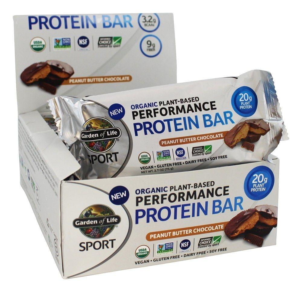 Sport Organic PlantBased Performance Protein Bars Peanut