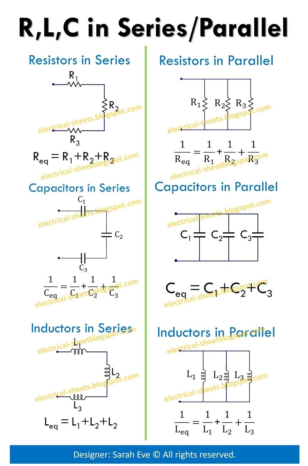 Circuits Formula Cheat Sheet Modern Design Of Wiring Diagram How To Troubleshoot Electrical Circuit Image Result For Electronic Formulas Maths Deep Rh Pinterest Com Series Parallel Problems