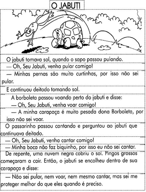 Atividades Para Educadores Texto Fatiado O Jabuti Atividades