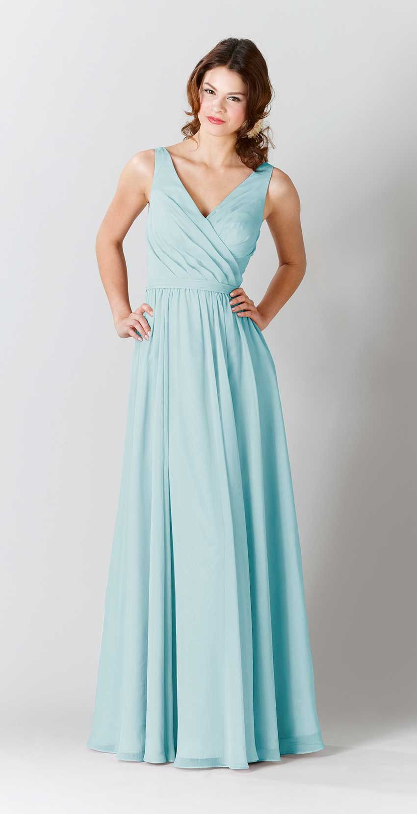 Anna fitted bodice anna and shape a long mint chiffon bridesmaid dress with flattering straps kennedy blue bridesmaid dress ombrellifo Images