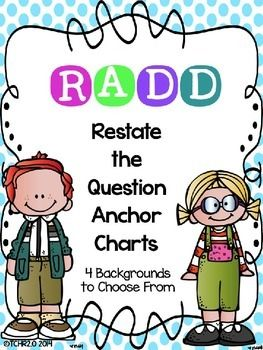 Have you been looking for a new strategy to use to get your students to answer comprehension questions in complete sentences?  If so, this strategy might be for you!  It's R.A.D.D.!  This product is a new acronym for your children to use to answer comprehension questions in complete sentences using evidence from the text.
