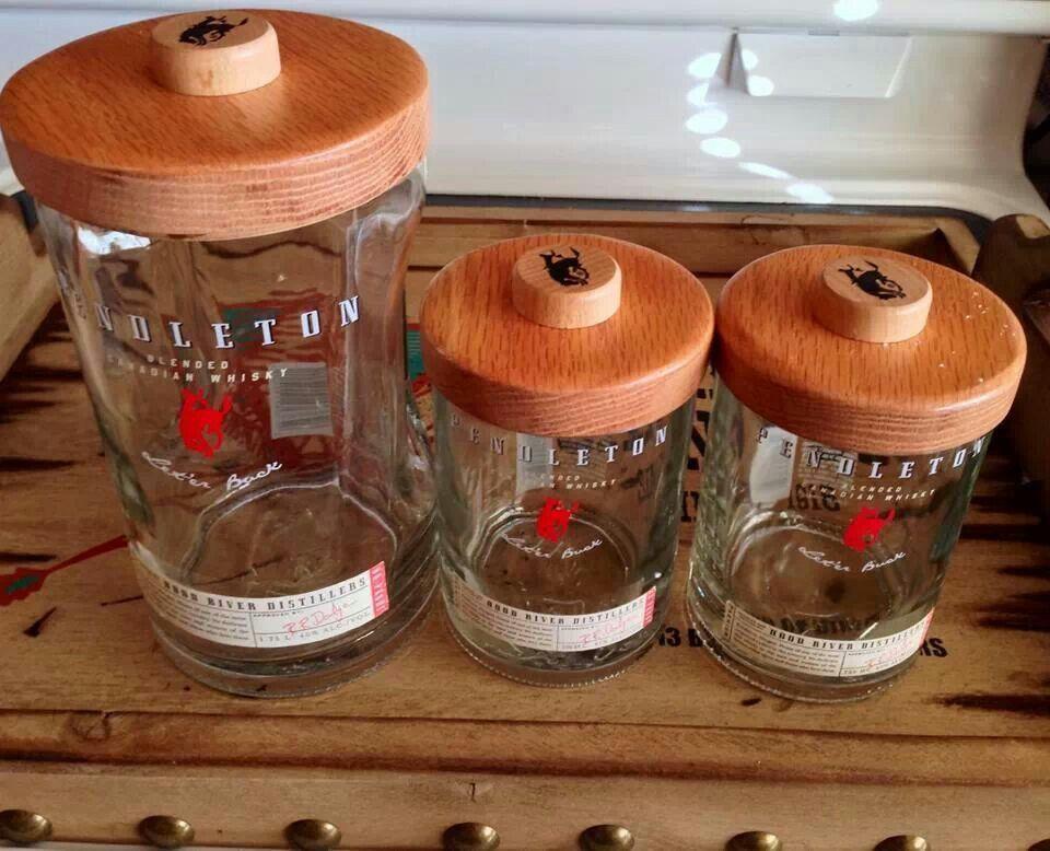 Mini Pendleton Whiskey Table Top Tiki Torch