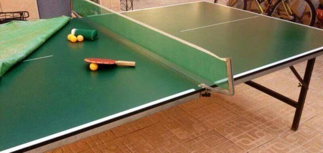 Mesa De Ping Pong Plegable Con Funda Dos Juegos De Red Paleta Y Pelota Ancho 1 53 Largo 2 73 Mesa De Ping Pong Ping Pong Mesas