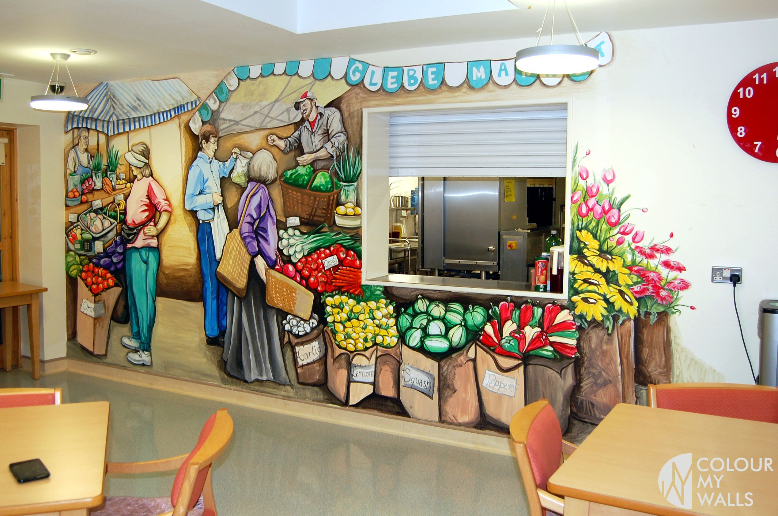 Hand Painted Wall Dining Room Market Vegetables Graffiti The Art Of
