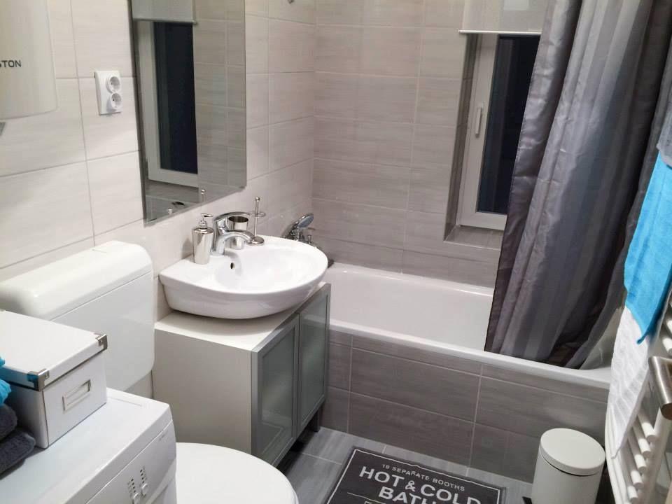 Ikea Bagno ~ Grey bathroom ! #ikea #bathtub #grey #curtain #hot #bath #relaxing