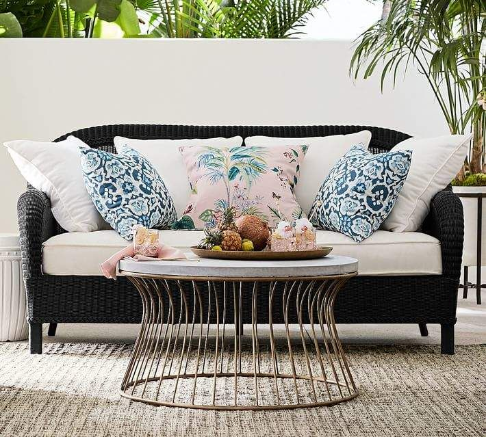 Sofa Frame & Cushion Wicker sofa, Decor, Wicker decor