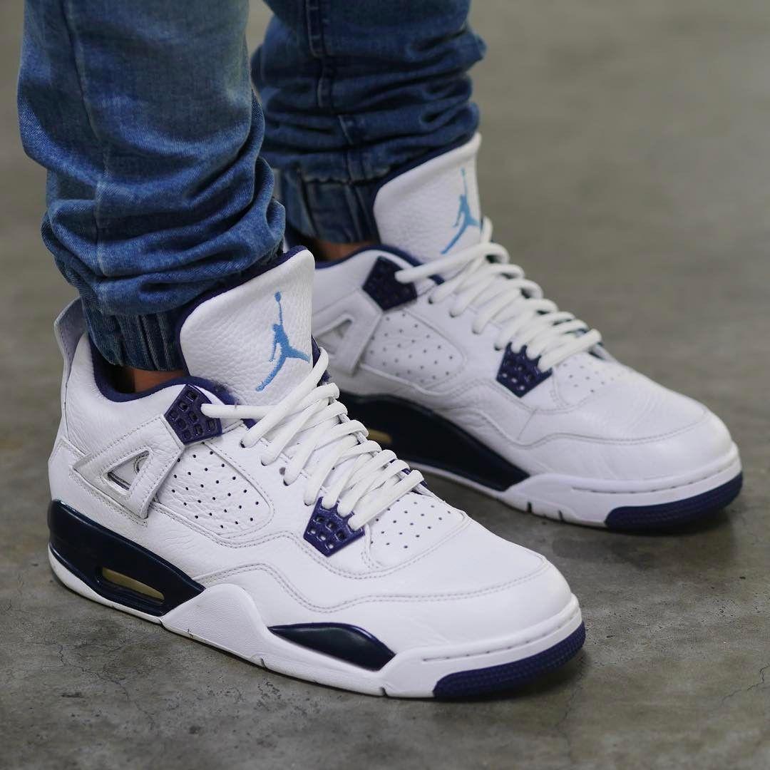 Air Jordan 4 Retro Columbia Sneaker Collection Sneakers Outfit Air Jordans