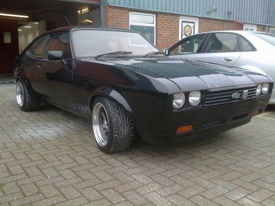 Ryan Seabornes Black 24v Capri Mk3 With Images Samochody