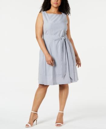 Plus Size Seersucker Fit & Flare Dress in 2019 | Products ...
