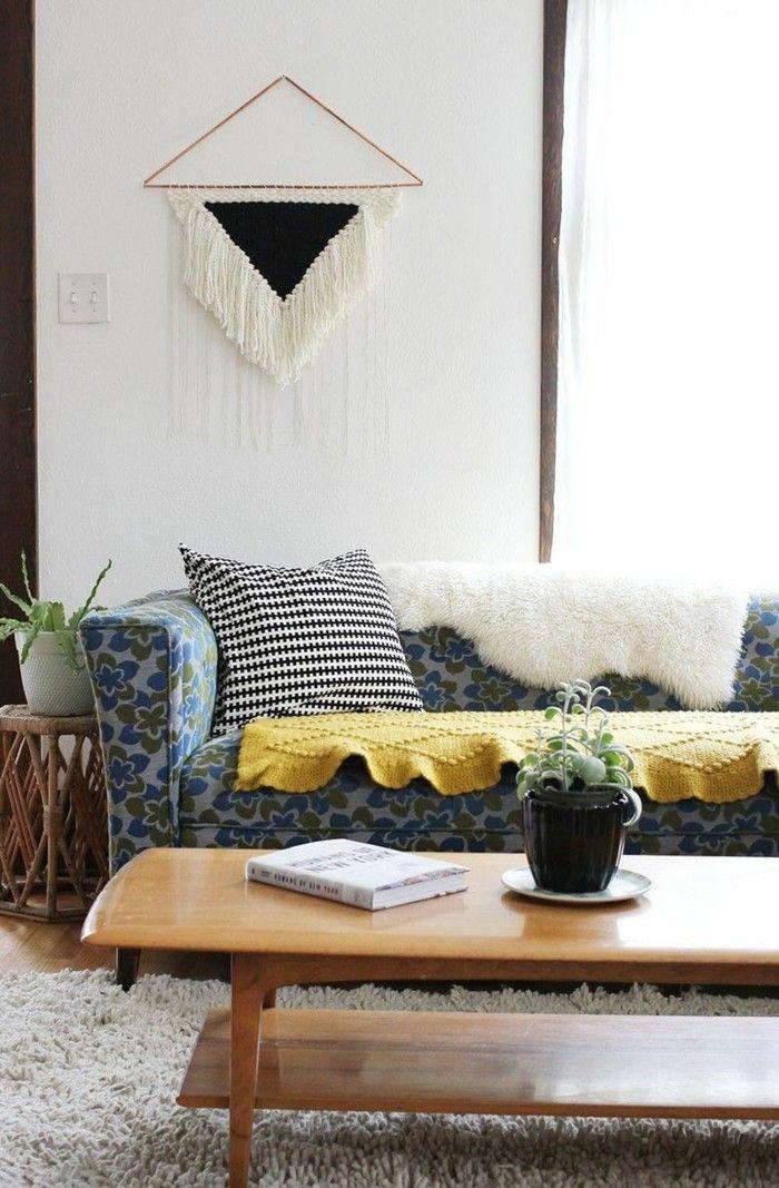 fransen wanddekoration hochflor teppich wohnzimmer | Beleuchtung ...
