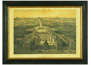 Framed Antique Artwork Reproduction of Parisian Courtyard Near the Louvre, Hand-aged Antique Reproduction of Paris Lithograph, Set Under Glass in Solid Wood, Distressed Black Frame by H. Hal Kramer Traditional Art. $125.00. A magnificent, art acquisition for your French country home.. Hand-nailed, black distressed frame emphasizes. 17 by 12 1/2 inches. Exquisite French artwork to adorn the walls of your traditional home. Architecture and ornament of Napoleon. ...