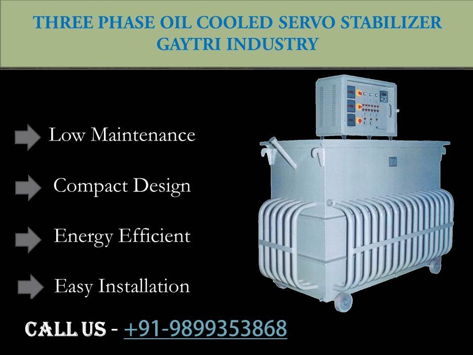 Three Phase Oil Cooled Servo Stabilizers Stability Cool Stuff Metal Processing