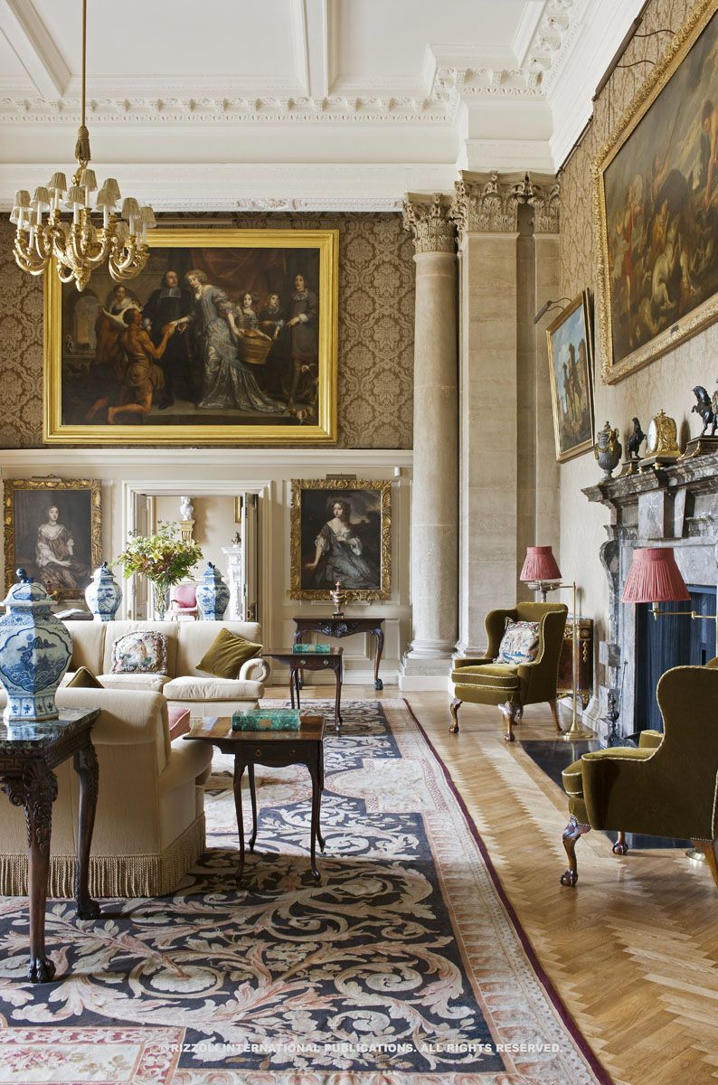 "English Country House Drawing Rooms: From Rizzoli's ""Life Of A House"" Book. Photo By"