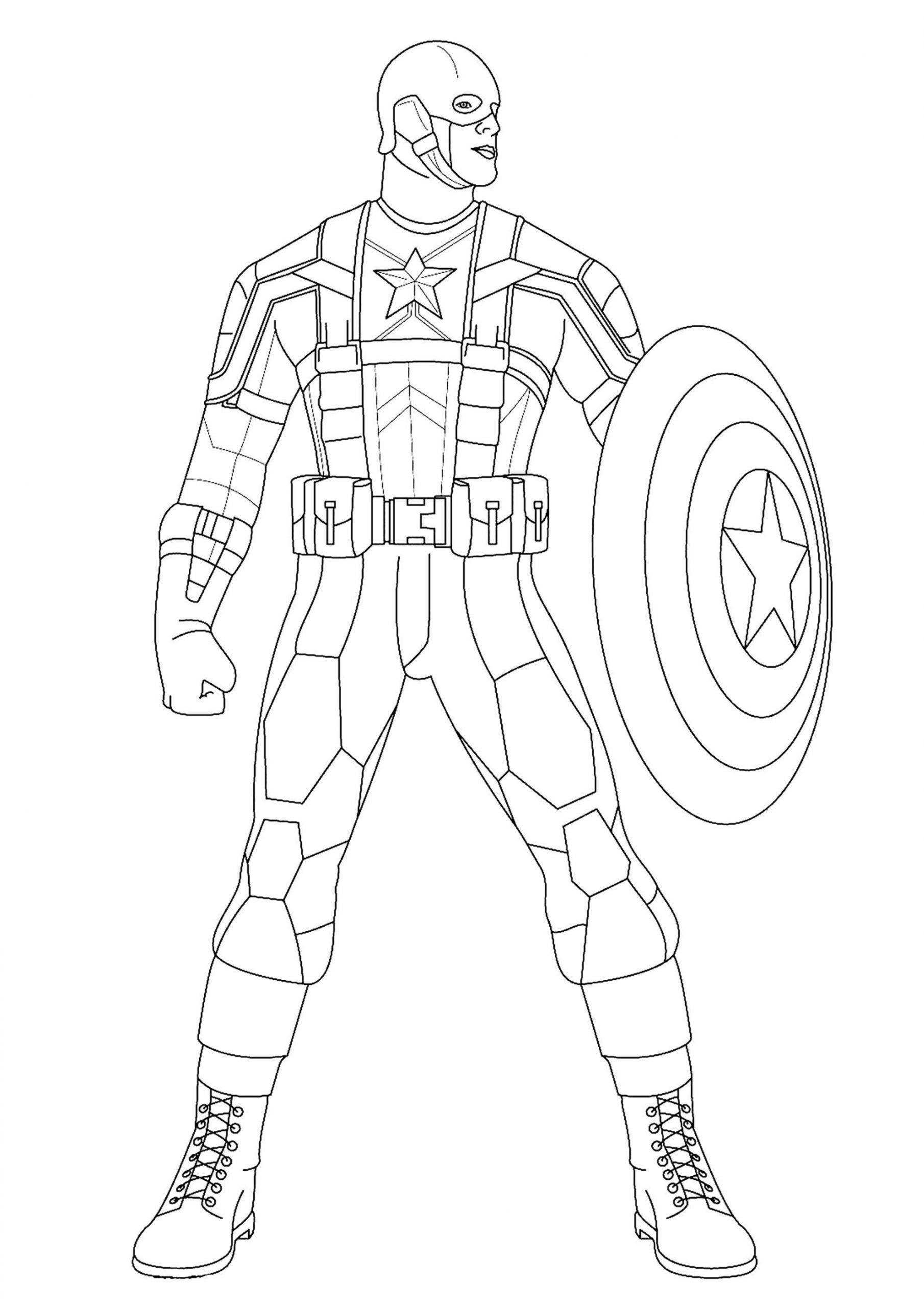 Captain America Coloring Sheet Captain America Captain America Kids Coloring Pa In 2020 Captain America Coloring Pages Superhero Coloring Pages Avengers Coloring Pages