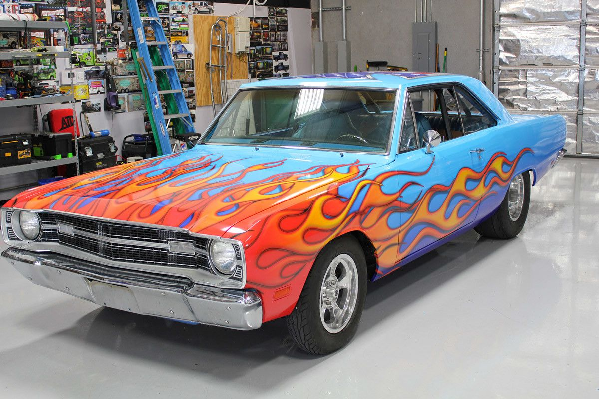 Flames Vinyl Car Wrap Dodge Dart Zilla Wraps Car Wraps - Custom vinyl decals for rc carsimages of cars painted with flames true fire flames on rc car