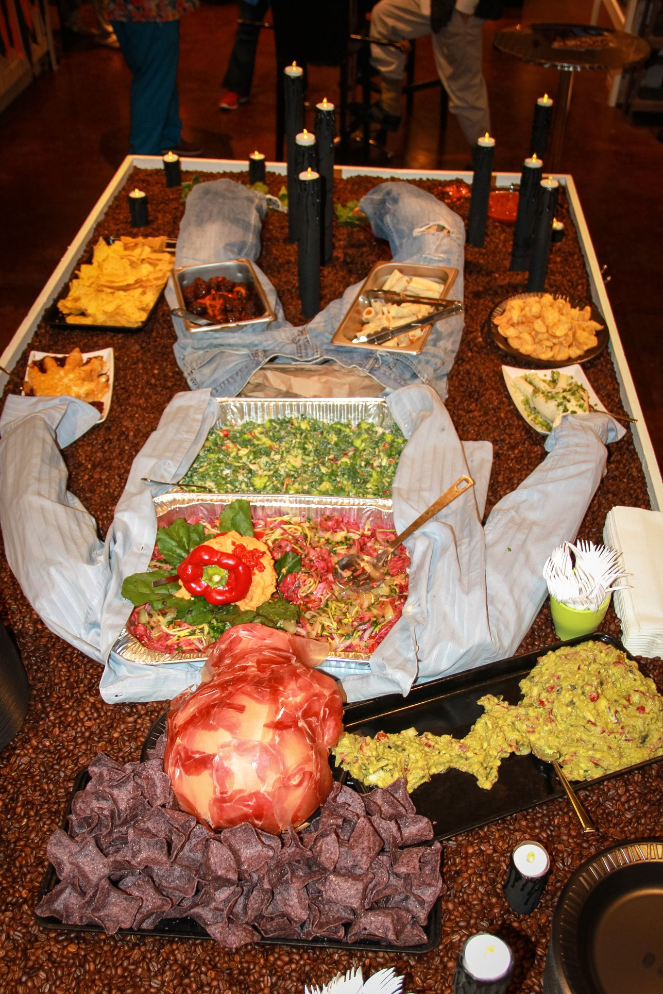 The Ufema take on the 'Body Buffet'. Halloween food at it's finest!