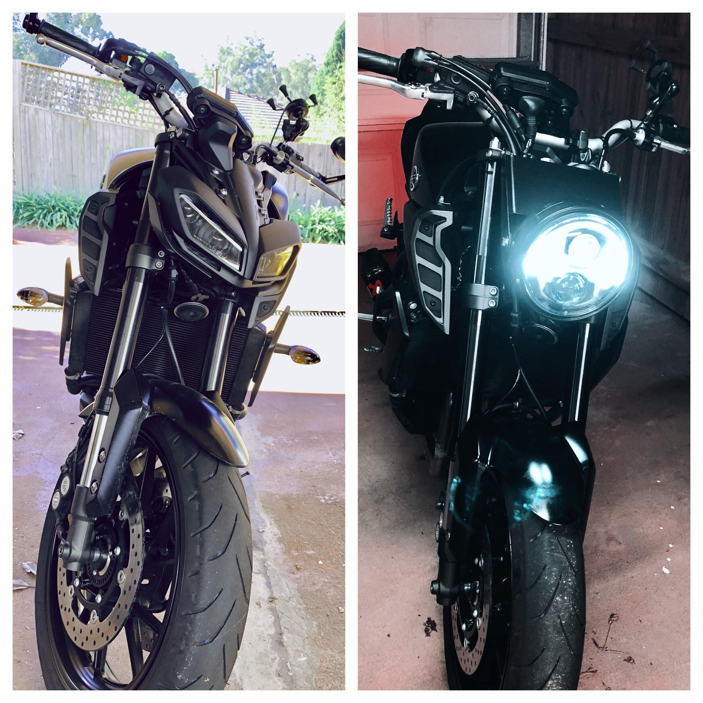 2018 Mt09 Headlight Conversion Lots Of Work But Classy Af