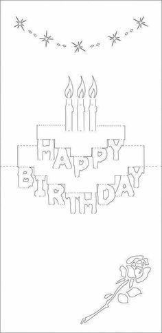 Happy Birthday Biglietto Pop Up Pop Up Card Templates