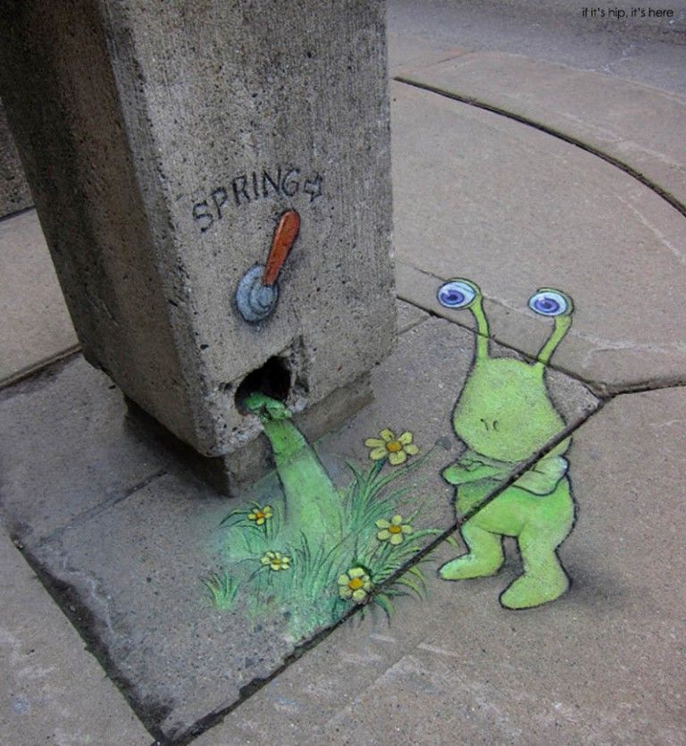 sluggo and spring lever by David Zinn