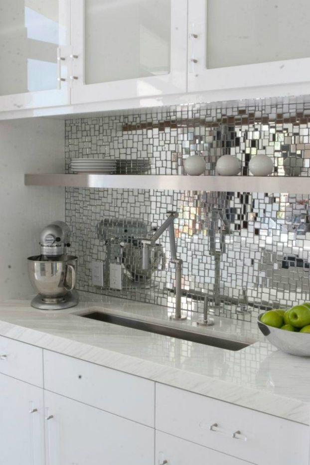 Awesome Kitchen Backsplash Ideas Mirror Mosaic Backsplash